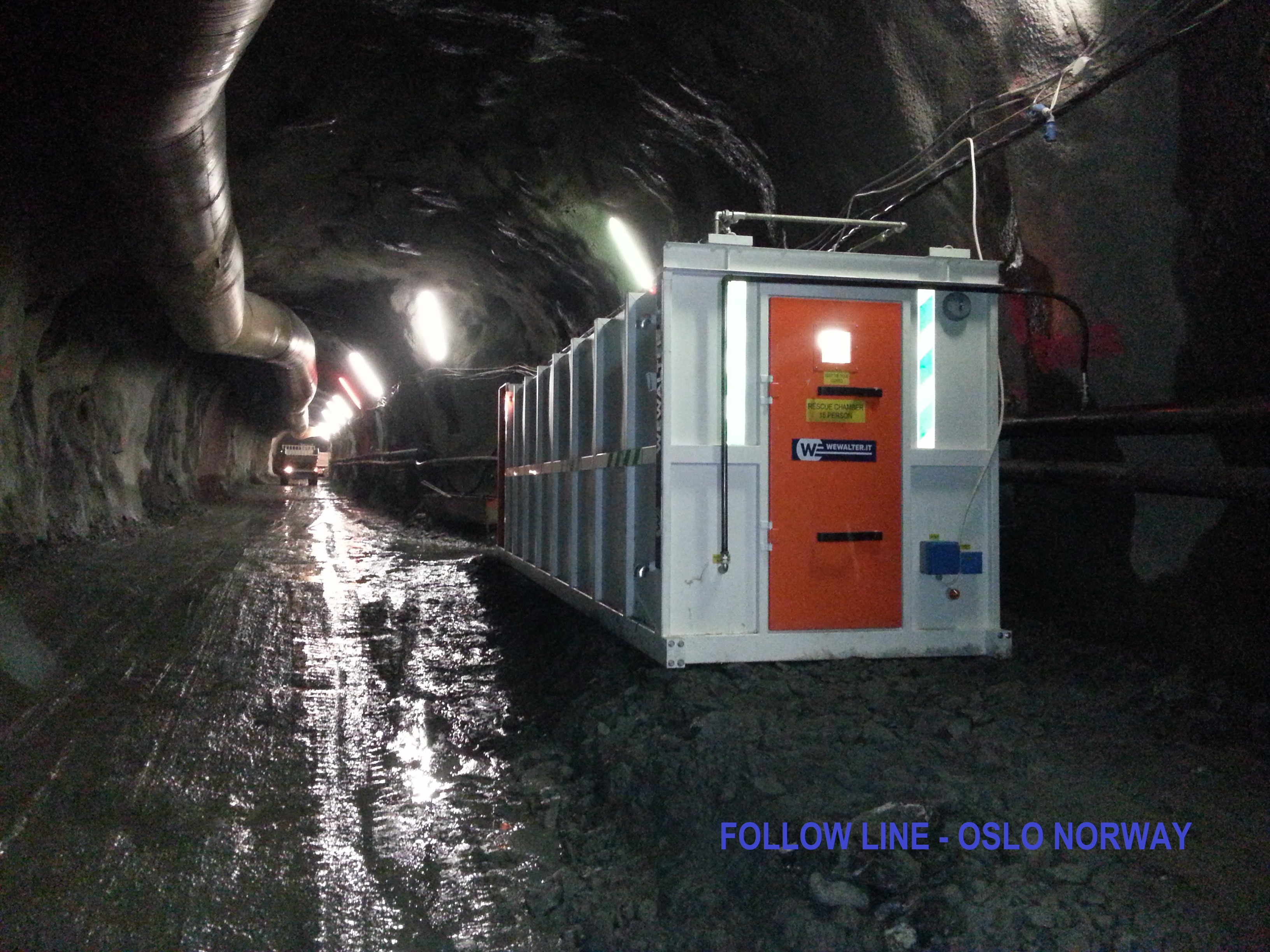 WE Walter Srl  refuge chamber engeenered for follow line Oslo, Norway